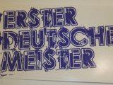 """Aufkleber """"Erster Deutscher Meister"""""""