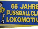 """Aufkleber """"55 Jahre Fussballclub Lokomotive"""""""